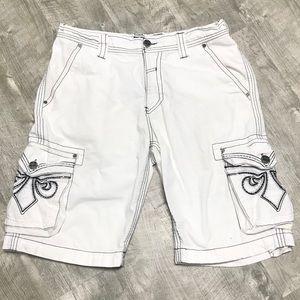 AFFLICTION White Cargo Shorts